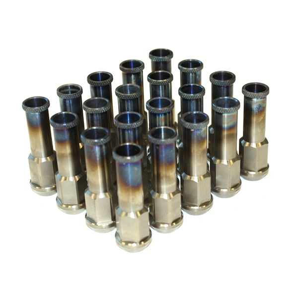 titanium extended lug nuts m12xp1 50mm