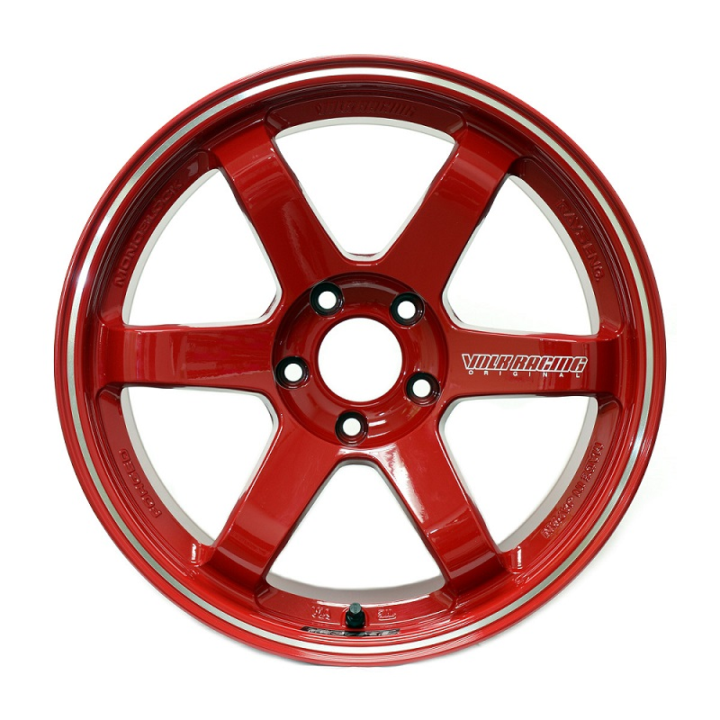 Volk Racing TE37 RT in Burning Red with Diamond-Cut rim