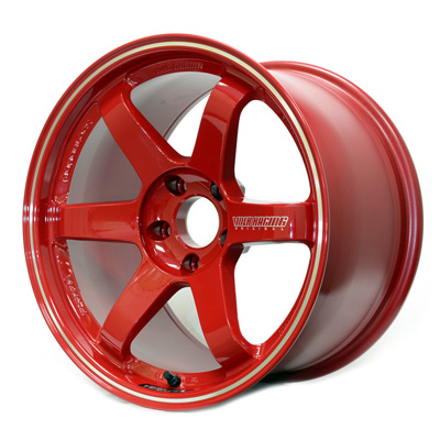 Volk Racing TE37 RT in Burning Red with Diamond-Cut rim - S Angle View