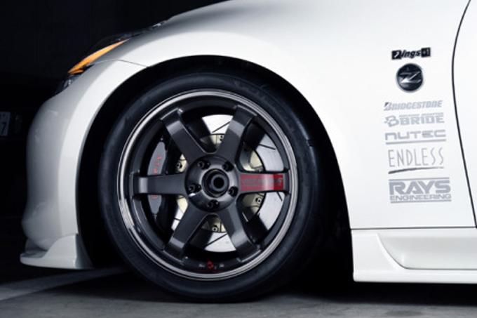 TE37 SL in Pressed Graphite on Nissan Skyline