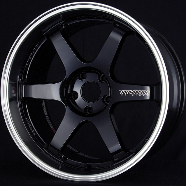 Volk Racing TE37 Tokyo Time Attack Wheel in Double Black with Diamond-Cut rim