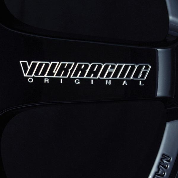 Volk Racing TE37 Tokyo Time Attack Wheel in Double Black with Diamond-Cut rim - Spoke Logo close-up