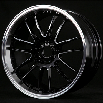Volk Racing RE30 Premium Color Black/Machined Wheel