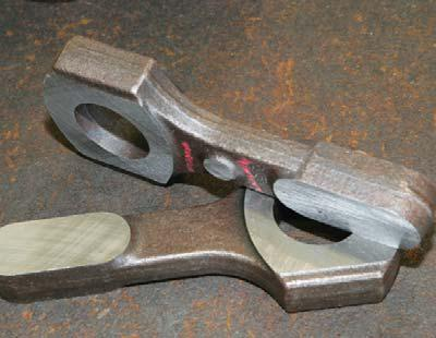 The forgings are heat treated to obtain the optimum properties of the steel.